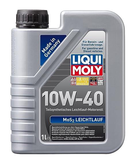 Liqui Moly 1091 MoS2 10W-40 - Aceite semisintético para motores de automóviles de 4