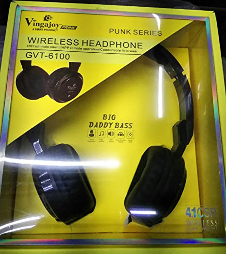 64f1b8fd357 Vingajoy Wireless Bluetooth Headphone with Card Support  Amazon.in   Electronics
