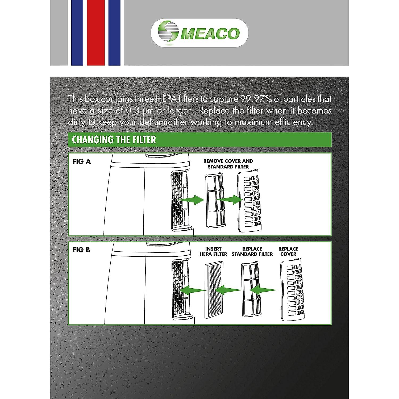 Meaco HEPA filtro para deshumidificador 12/L, bajo consumo de energ/ía, Color blanco//negro