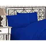 Elegant Comfort 1500 Thread Count Egyptian Quality 4-Piece Bed Sheet Sets with Deep Pockets, Queen, Royal Blue