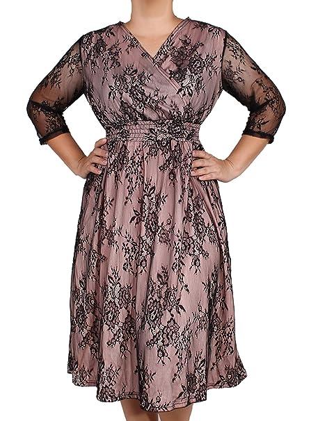 Amazon.com: Vestido de manga larga 3/4 para mujer, estilo ...