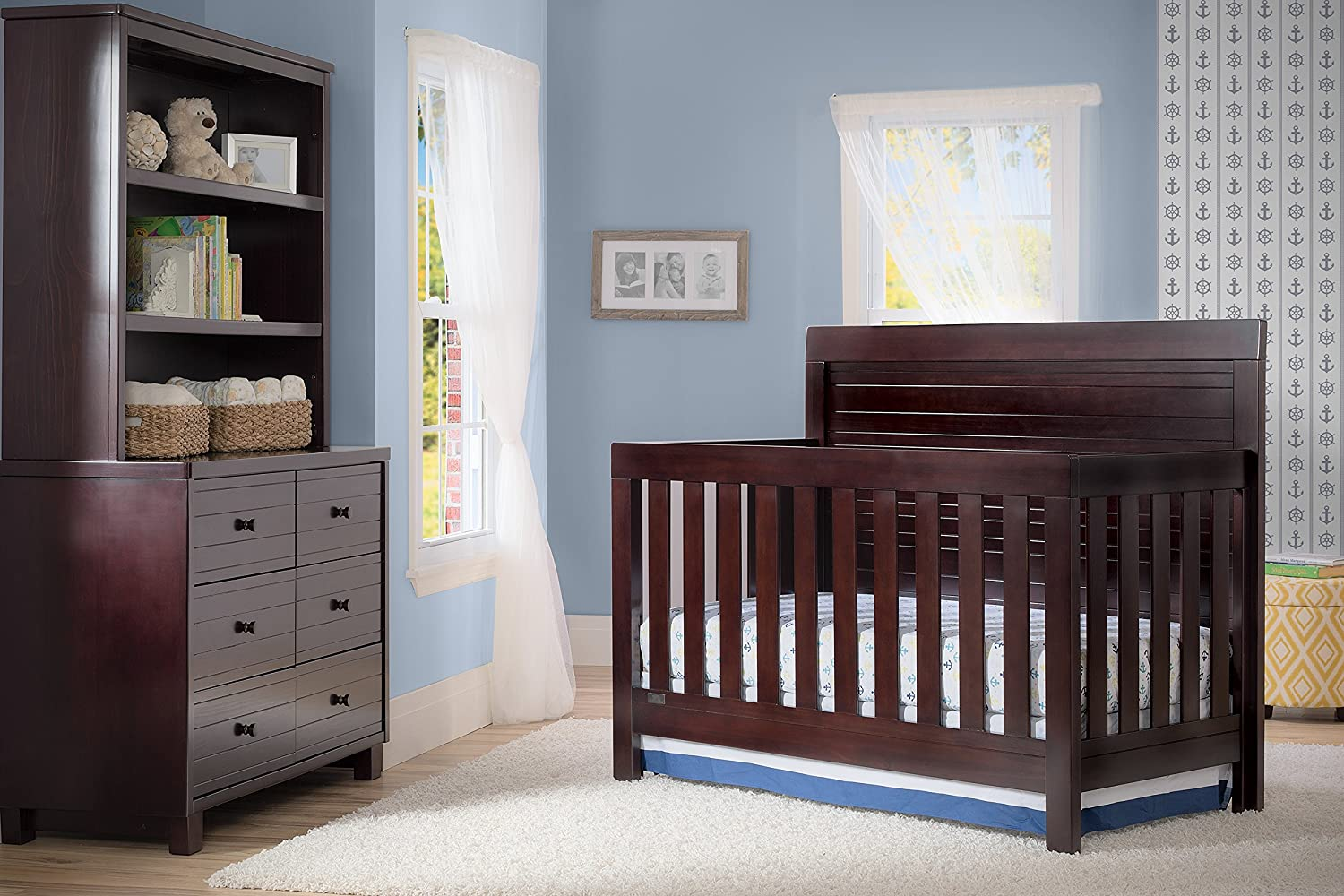 Delta Children Rowen 4-in-1 Convertible Crib Black Espresso