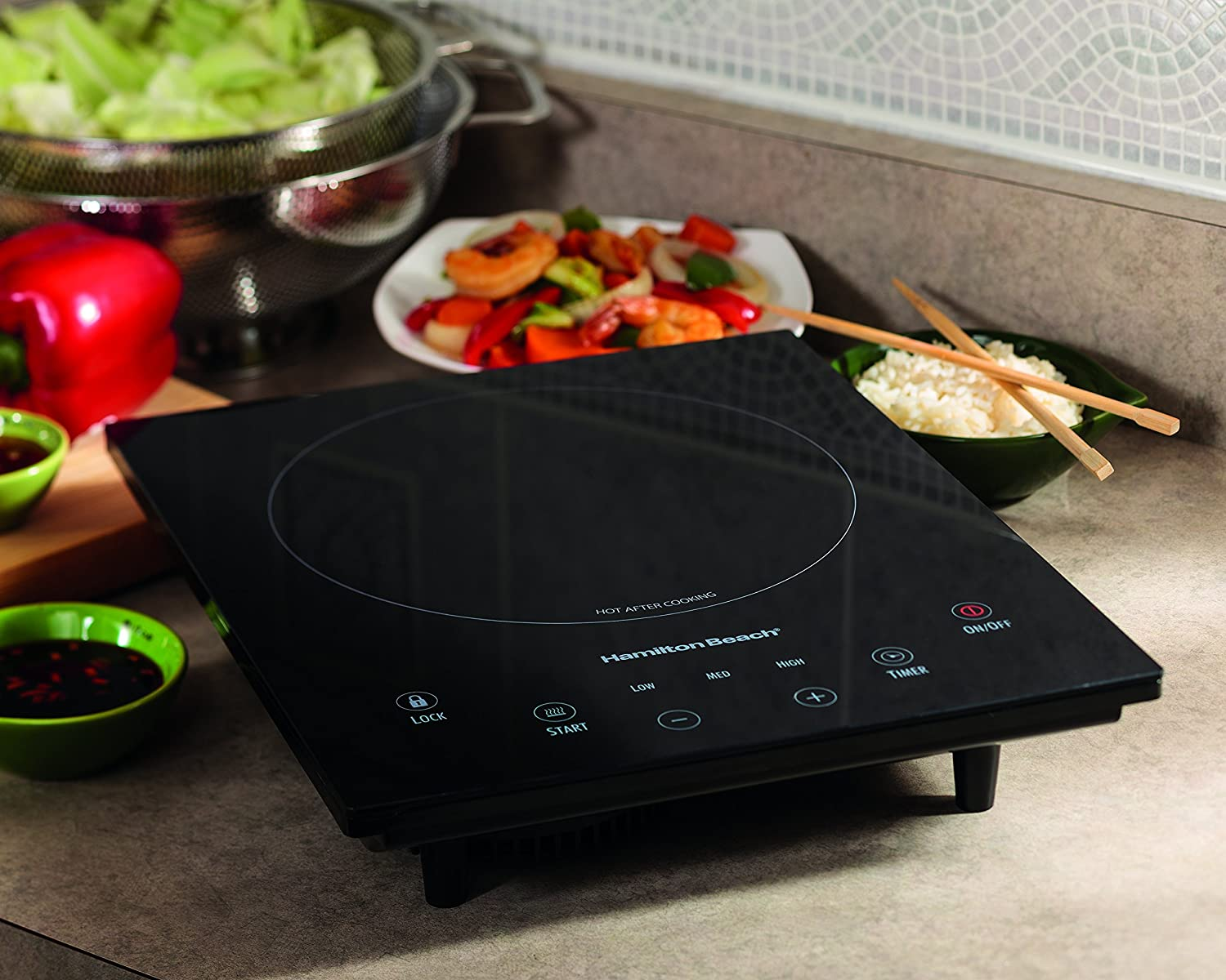 Amazon.com: Hamilton Beach 34102 Portable Induction Cooktop: Electric  Countertop Burners: Kitchen U0026 Dining