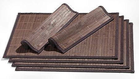 Ritzenhoff & Breker Platzmatten-Set Bamboo, 6 teilig, 30x45 cm, Dunkelbraun
