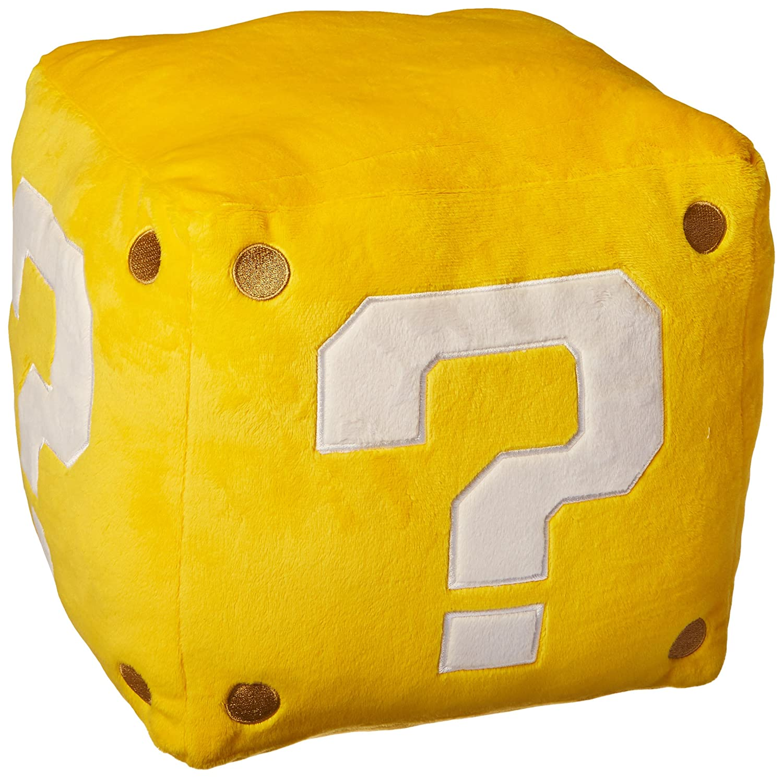 Little Buddy USA Super Mario Series 10 Large Coin Block Pillow Stuffed Plush