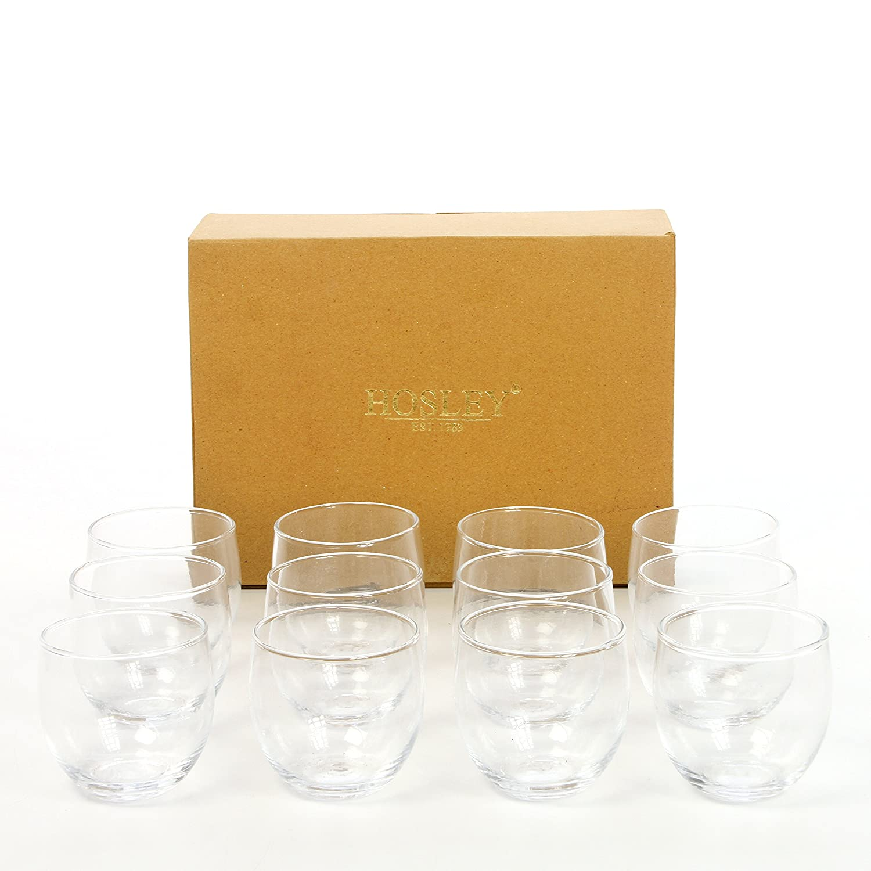 Hosley Set of 12 Clear Glass Tea Light Holders - 2.5