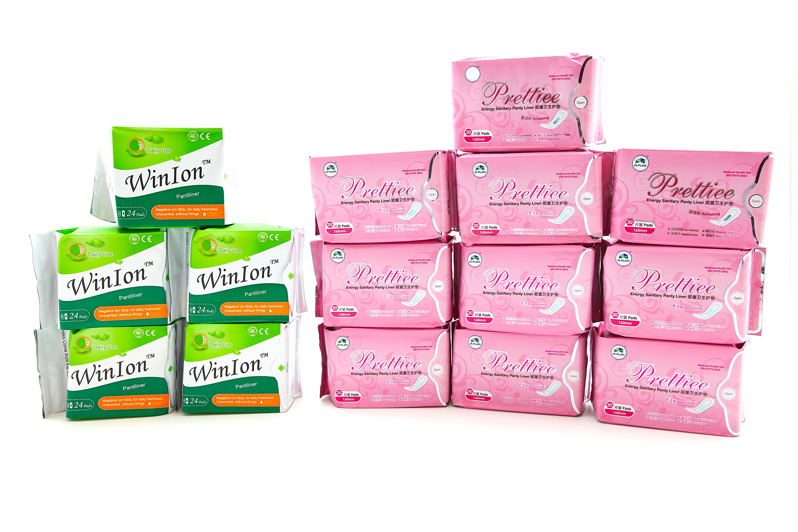 5 Pack Winalite Winion Anion Pantiliner With 10 Pack Prettie Energy Sanitary Panty Liner by Winalite (Image #1)