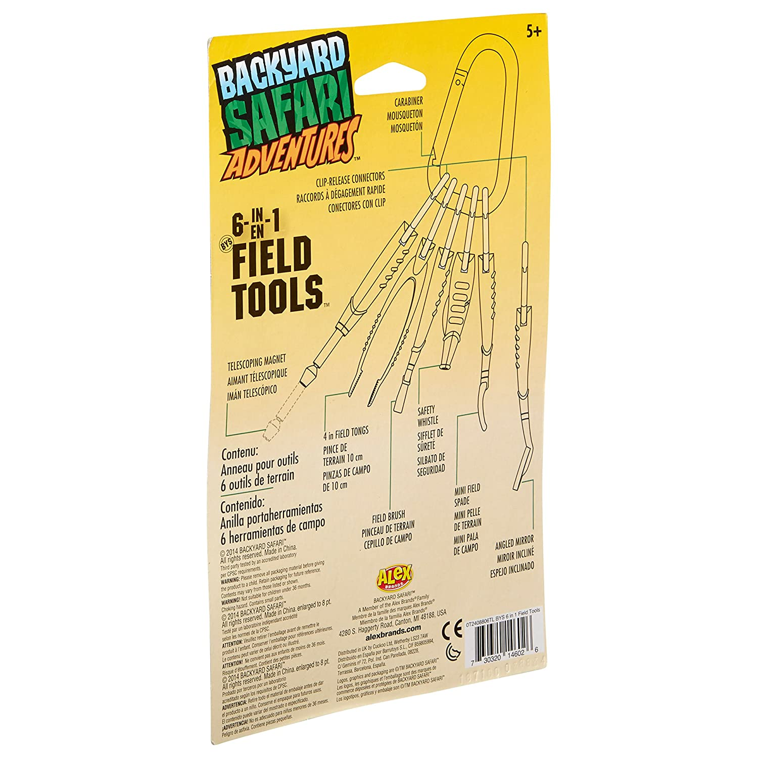 amazon com backyard safari 6 in 1 field tools toys u0026 games