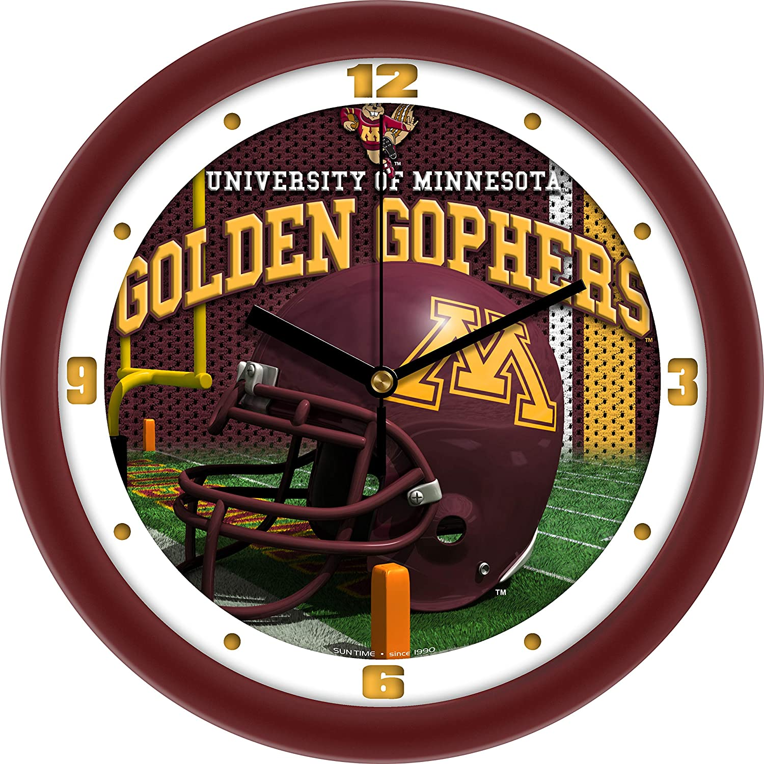 SunTime Minnesota Gophers - Football Helmet Wall Clock