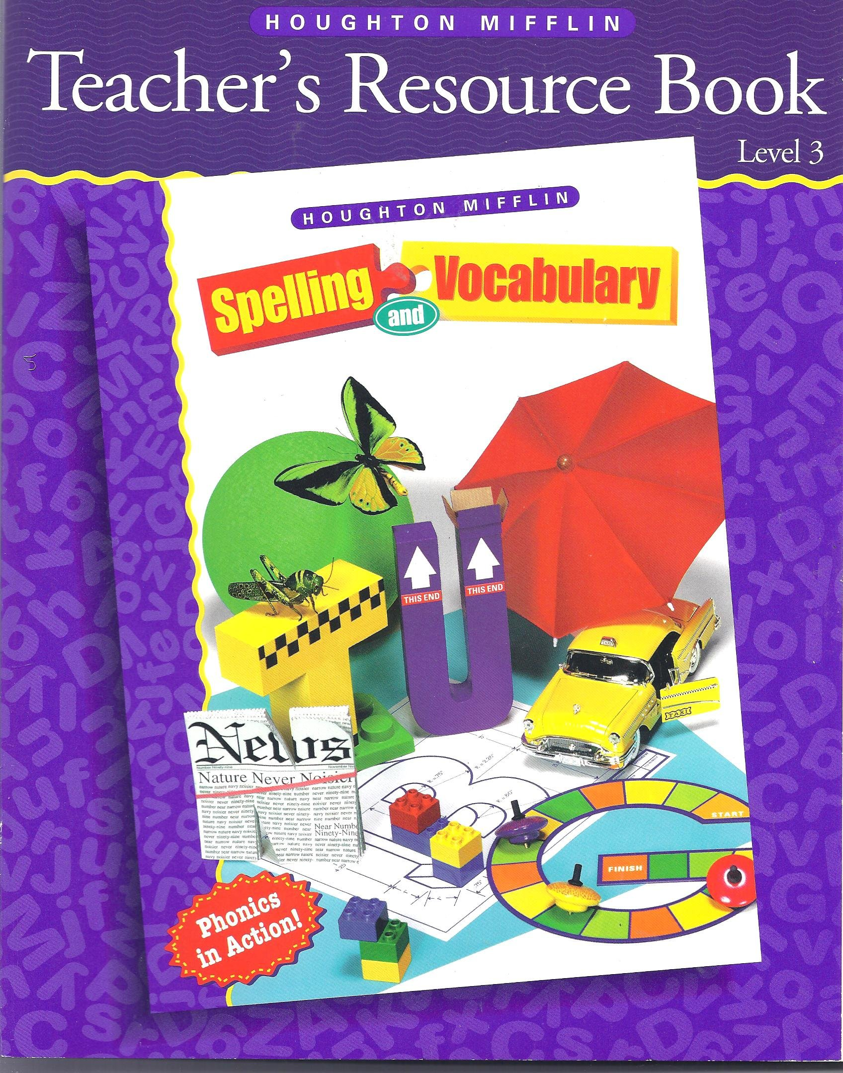 Teacher's Resource Book, Level 3 (Houghton Mifflin Spelling and  Vocabulary): Desconocido: 9780395855492: Amazon.com: Books