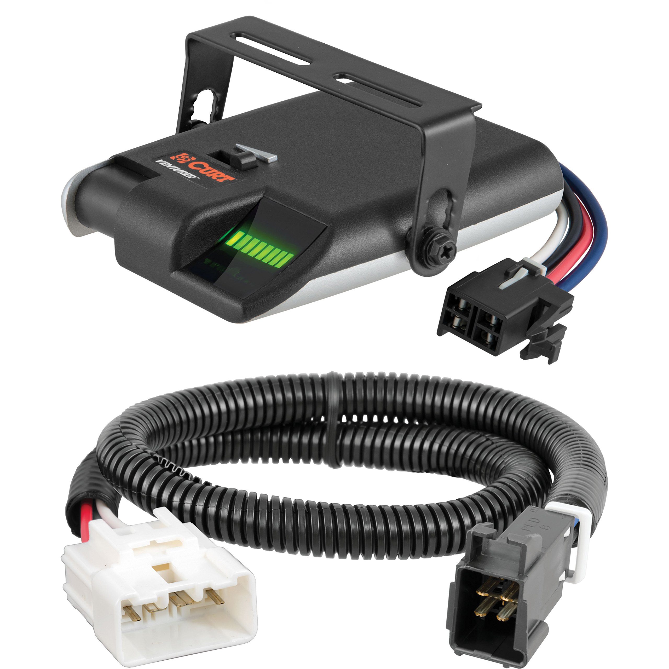 CURT Venturer Electric Brake Controller & Wiring Kit for Toyota Tacoma, Tundra - 51455 & 51110