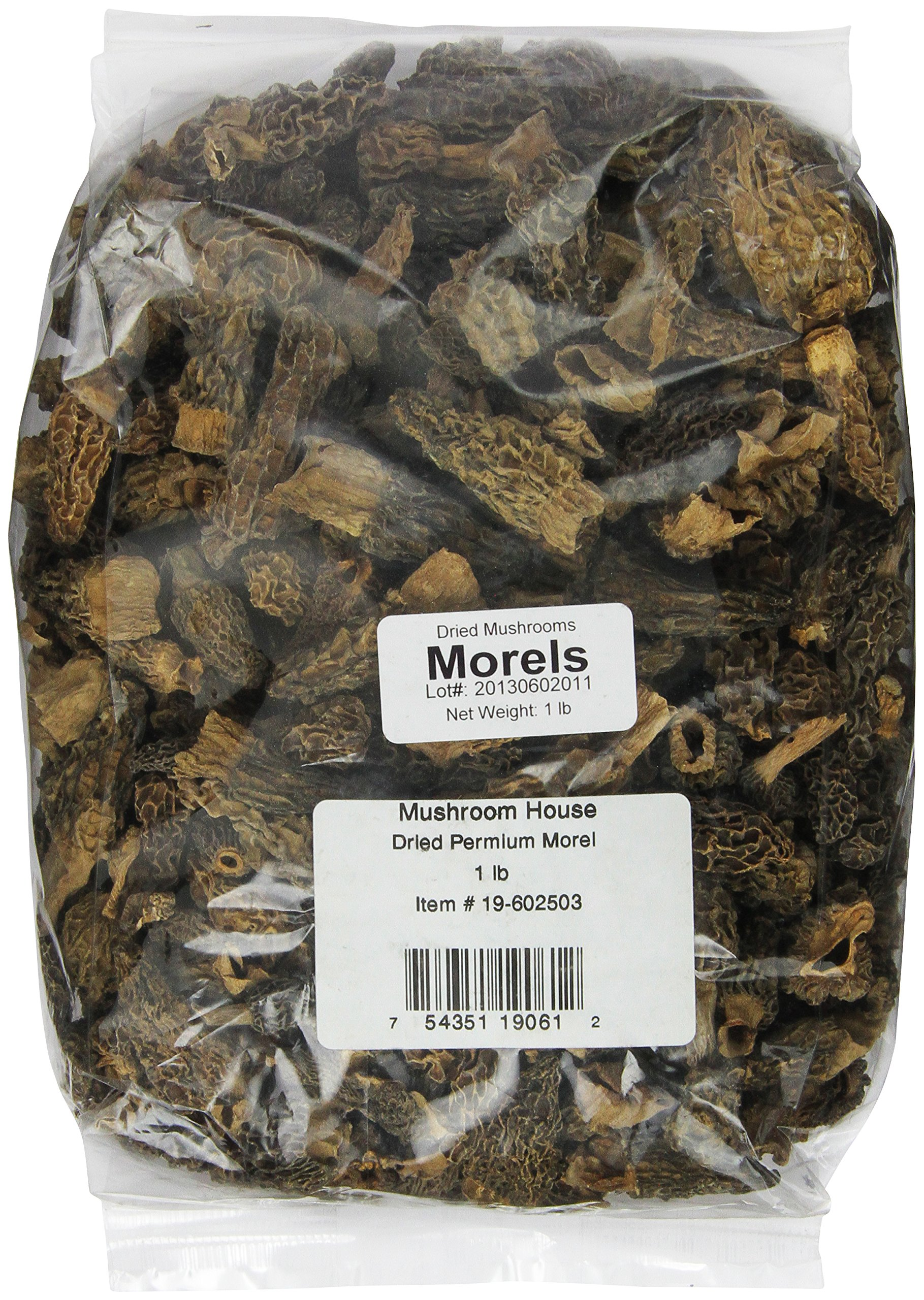 Mushroom House Dried Mushrooms, Premium Morel, 1 Pound by Mushroom House