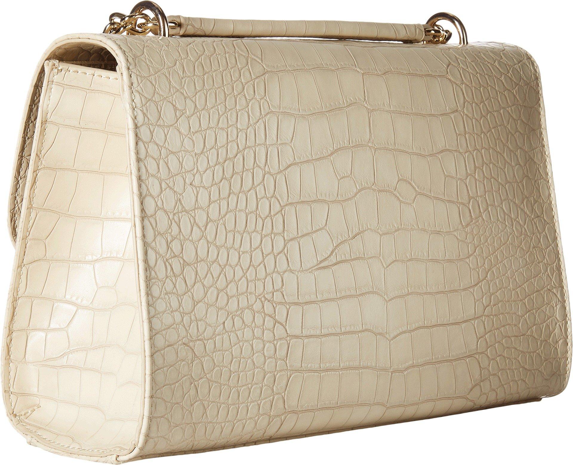 LOVE Moschino Women's Croco Pu Shoulder Bag White Handbag by Love Moschino (Image #2)