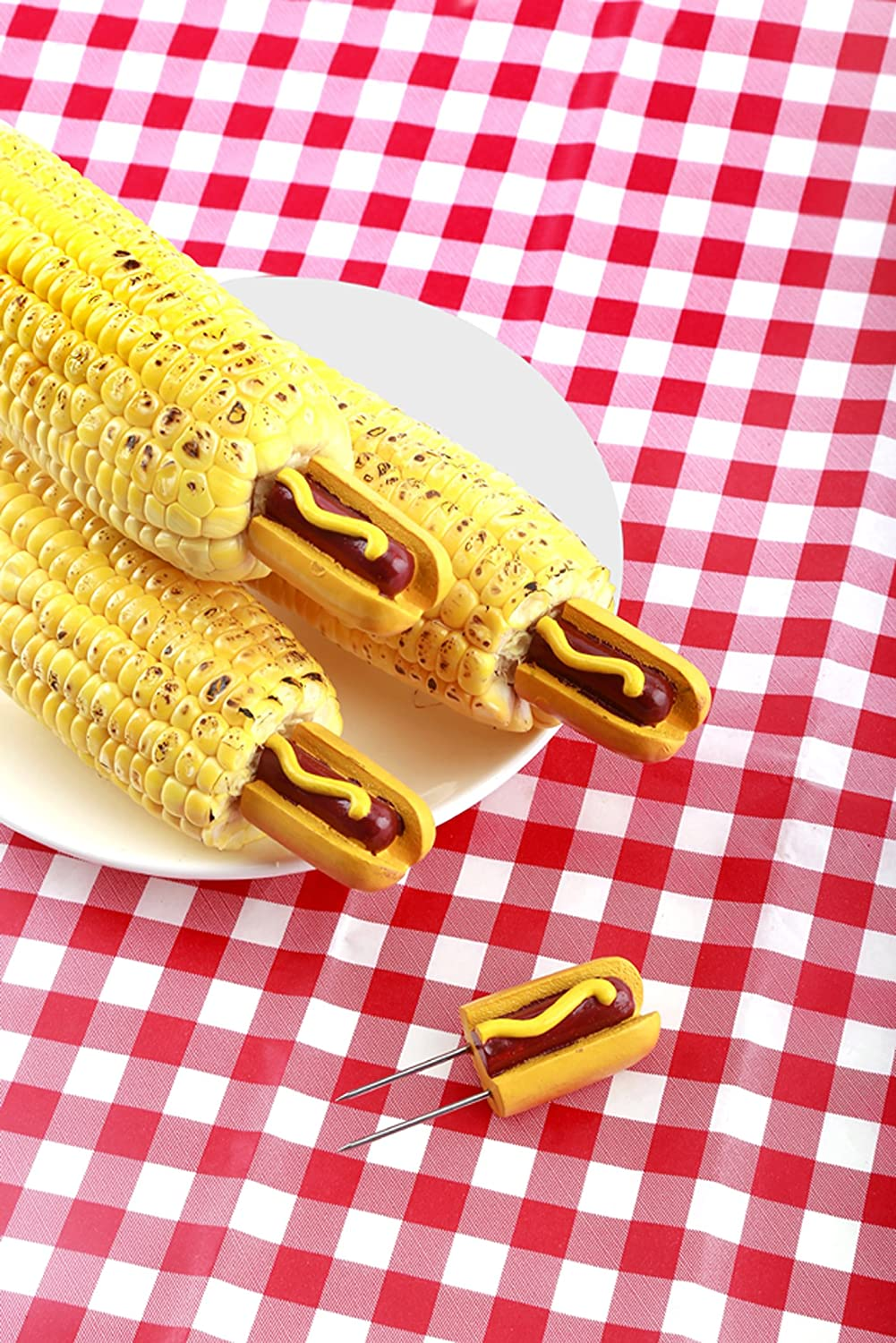 Set of 8 Grilling Traditions Hot Dog Corn Holders