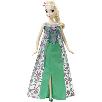 Disney Frozen Fever Singing Elsa Doll: Toys & Games