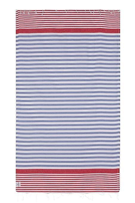Peshtemal turco toalla de playa ligero 100% algodón Foutah – Toalla de piscina de baño
