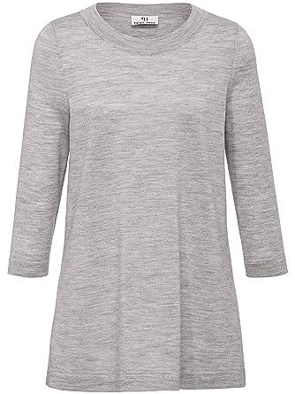 finest selection a25f5 13ece PETER HAHN Damen - Long-Pullover, grau, Damen-Strickpullover ...