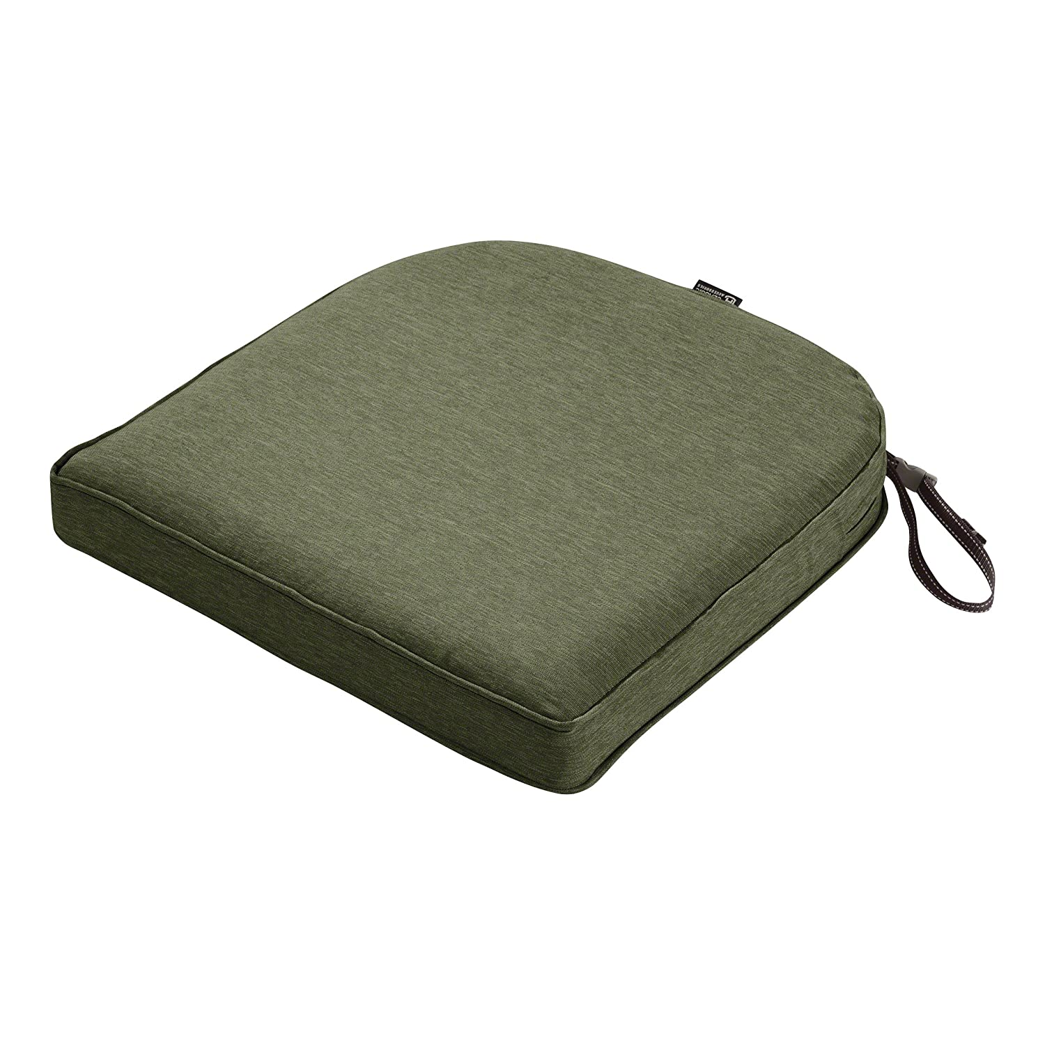 "Classic Accessories Montlake Cont. Seat Cushion Foam & Slip Cover, Heather Fern, 18x18x2"" Thick"