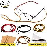 Eyeglass Strap Chain [Pack of 4 + Bonuses] - Eyeglass Holder - Glasses Lanyard- Eyeglasses Holder | Cord | Retainer