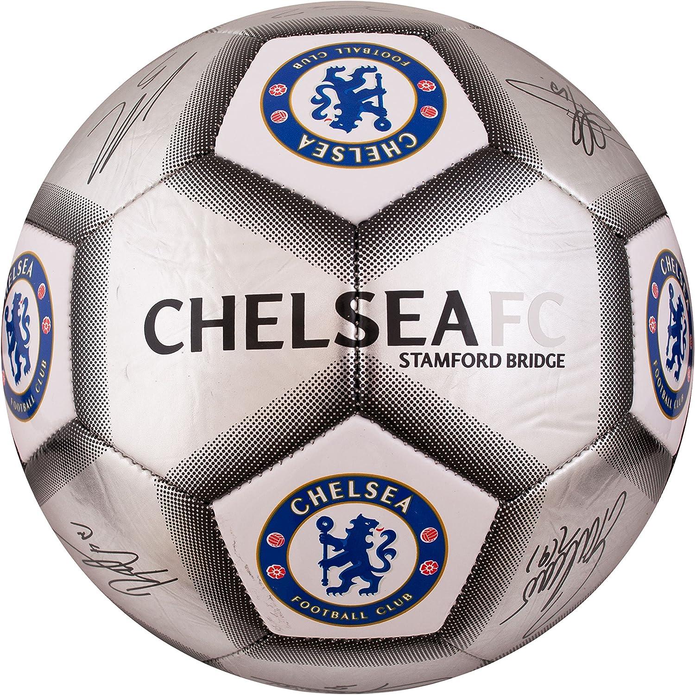 Chelsea FC Silver Signature Soccer Ball