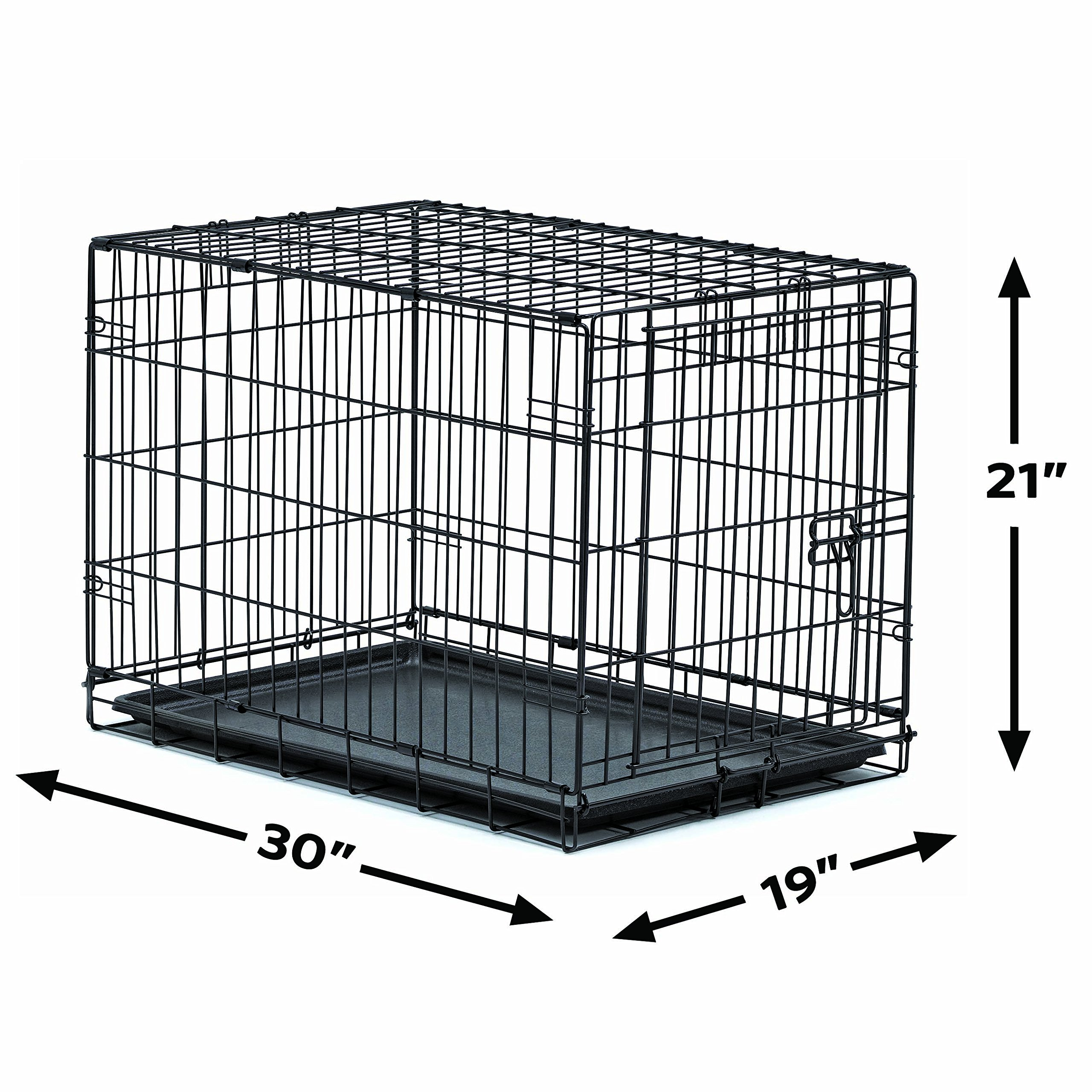 New World 30'' Folding Metal Dog Crate, Includes Leak-Proof Plastic Tray; Dog Crate Measures 30L x 19W x 21H Inches, For Medium Dog Breeds by New World Crates (Image #4)