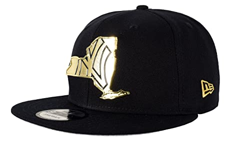 newest 08d11 950bd New Era 9Fifty New York Yankees Gold Stated Snapback, Navy Gold