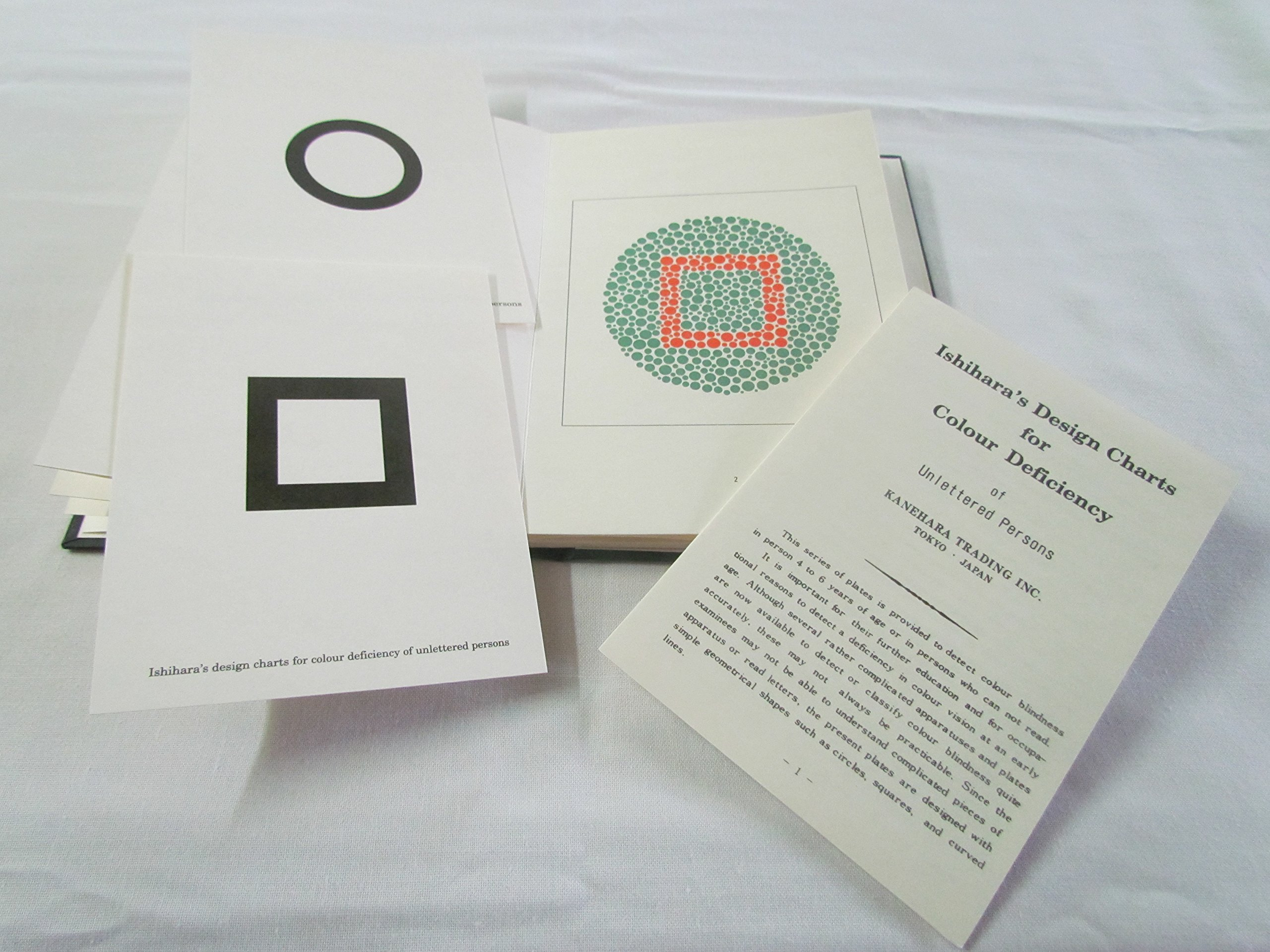 Kanehara Ishihara Test Chart Books, for Color Deficiency-10 Plate Book (Unlettered Persons & Children)
