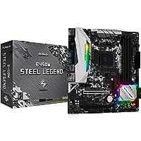Asrock B450M Steel Legend Enchufe AM4 AMD B450 Micro ATX - Placa Base (DDR4-SDRAM, DIMM, 2133,2400,2667,2933,3200,3533 MHz, Dual, 64 GB, AMD)