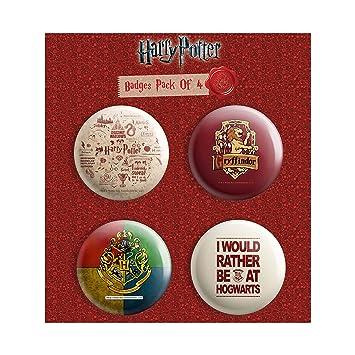 Buy MC SID RAZZ Harry Potter Combo Pack Of 4 Round Badges