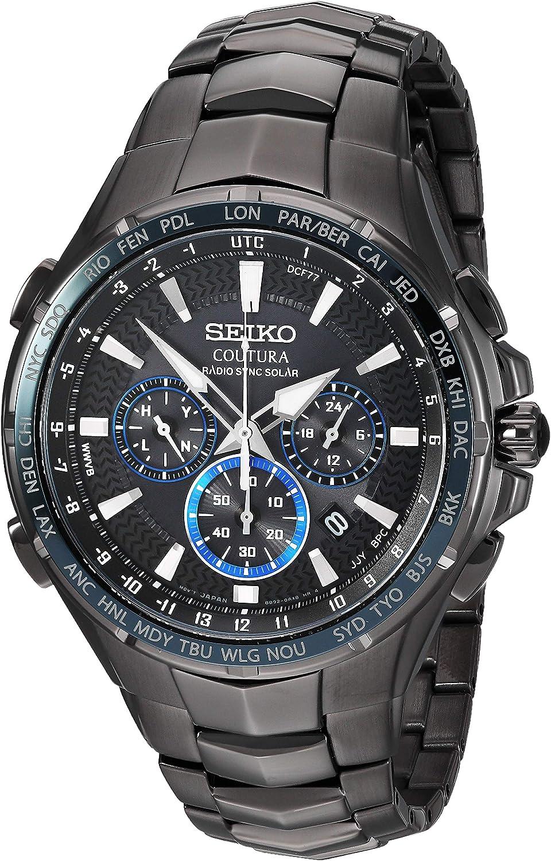 Seiko SSG021 - Reloj cronógrafo de Acero Inoxidable para Hombre, Color Negro