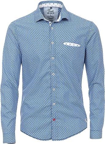 Venti - Camisa Casual - Lunares - para Hombre Azul y Blanco ...
