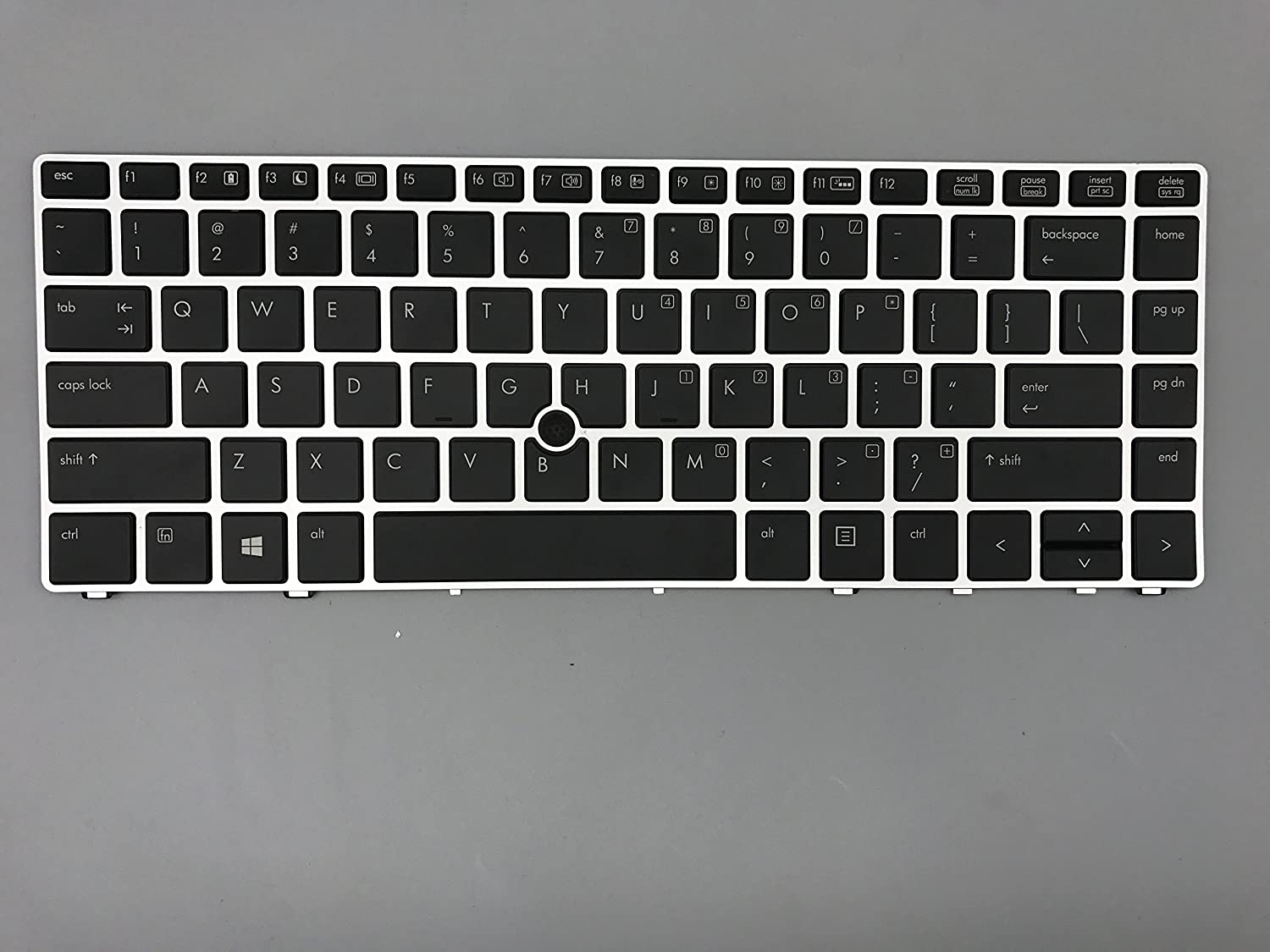 New Keyboard forHP Elitebook Folio 9470m Series US Layout P/N: 697685-001 SG-57400-XUA 6037B0080301 V135426AS2 Black keycap, Silver Frame, with Pointing, with Backlight