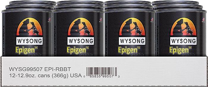 Wysong Epigen Rabbit Canine/Feline Canned Formula Dog/Cat/Ferret Food, Twelve- 12.9 Ounce Cans