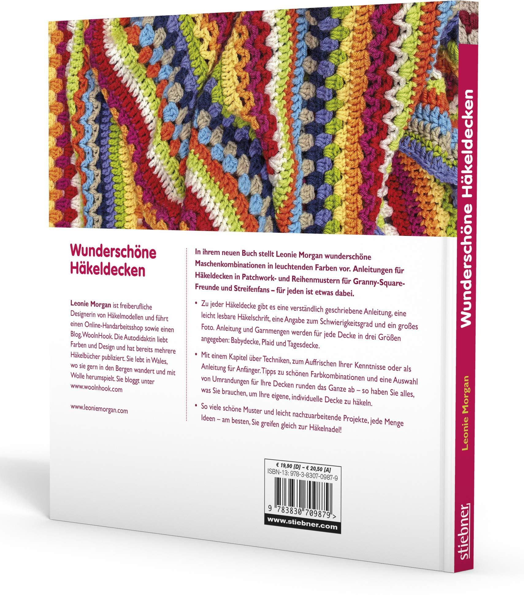 Amazonfr Wunderschöne Häkeldecken 40 Farbenfrohe Modelle
