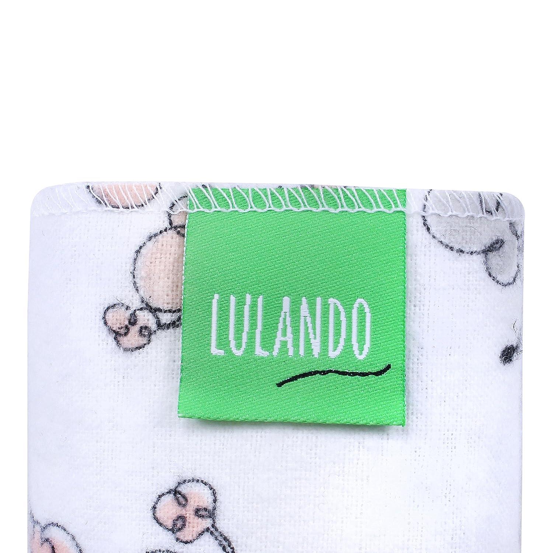 5 unidades de 70 x 80/cm 100//% algod/ón Cuadrado de franela para beb/é Lulando