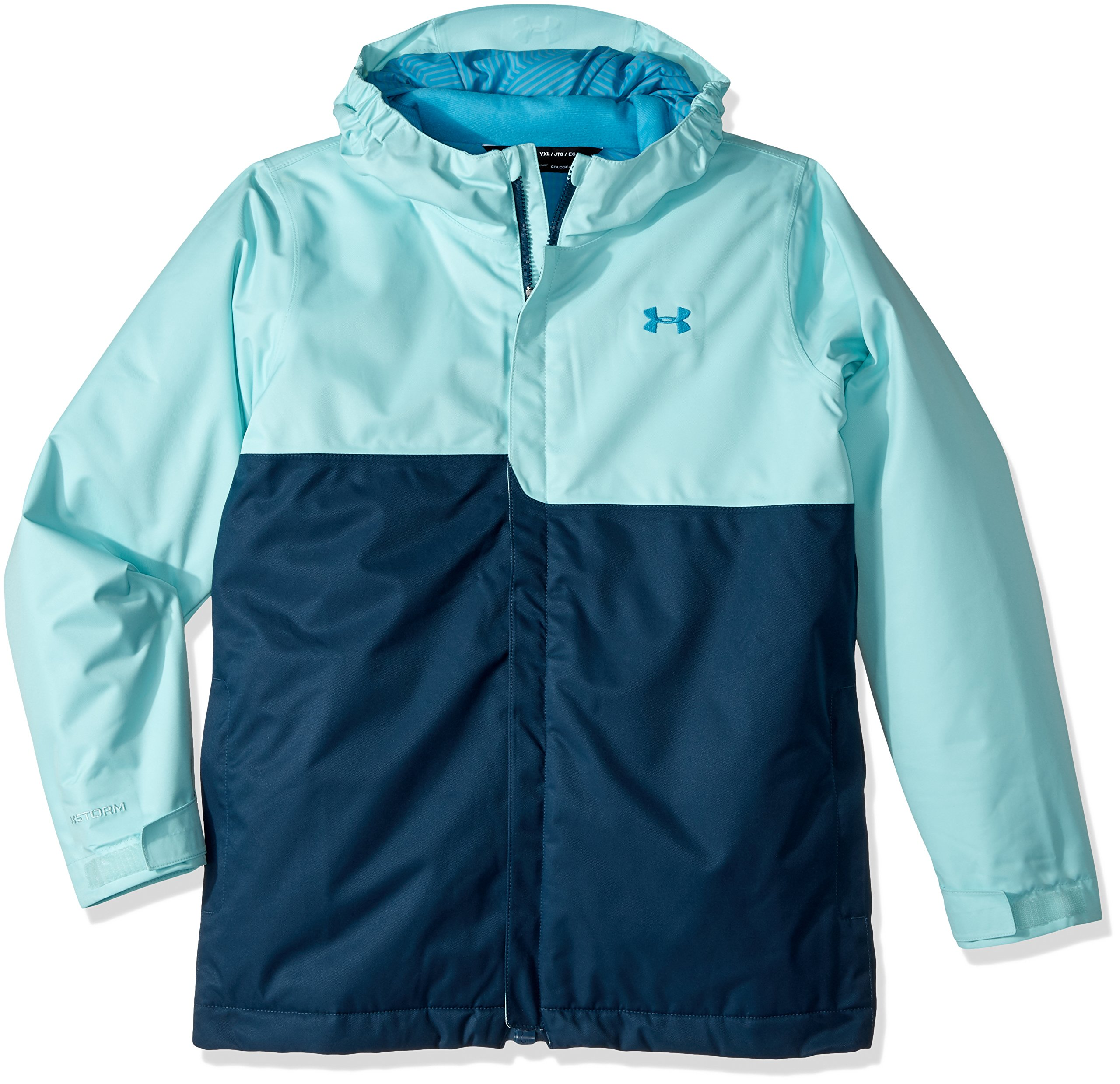 Under Armour Outerwear Girl's Under Armour Girls' Pp Rideable Jacket, Blue Infinity/Blue Shift, Youth Medium by Under Armour