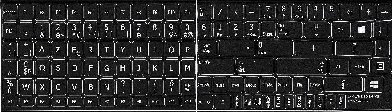 Azerty - Pegatinas autoadhesivas para teclado (112 letras)