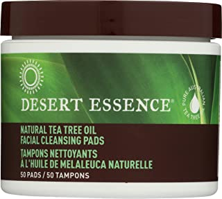 product image for Desert Essence Facial Cleansing Pads Tea Tree Oil, 50 Pads, 0.75 Bottle