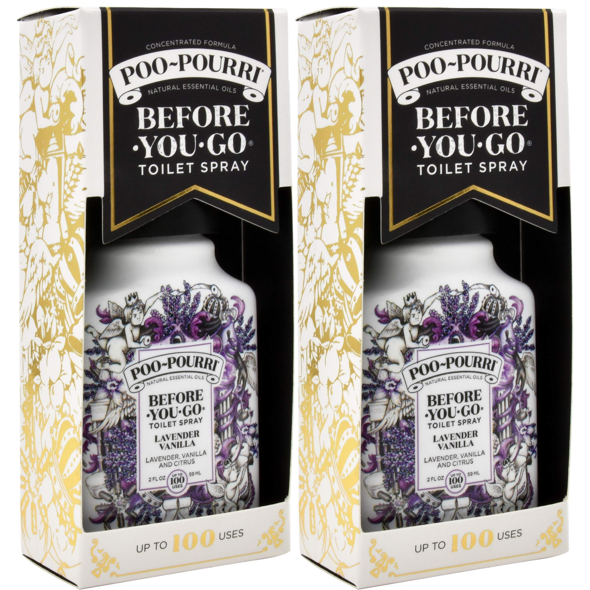Poo-Pourri Before-You-Go Bathroom Spray, Lavender Vanilla - 2 Ounce, 2 Pack with Ornament Box   by Poo-Pourri (Image #2)