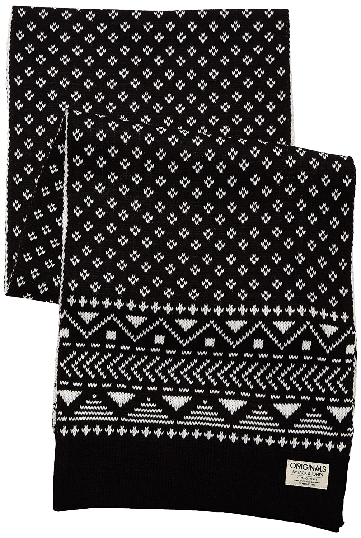 1e90951107da Jack   Jones - Pat Knit Scarf Org 7-8-9 2014 - Echarpe Homme, multicolore  (noir), taille unique  Amazon.fr  Vêtements et accessoires