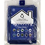 Queen of Tarps - Large Multi Purpose, Waterproof, New Technology, Premium Polymer Cover - (Blue - 6 x 8 Feet)