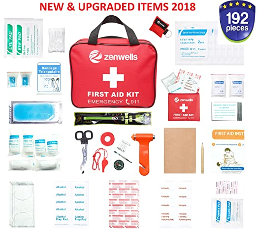 f9105447795 Amazon.com: First Aid Kit Bag (3 Pack) - EMT Medical Supplies Kits,  Firstaidkit for Car Trips, EMS Triage Needs, Or Just Gear Stocked Survival  Bags for ...