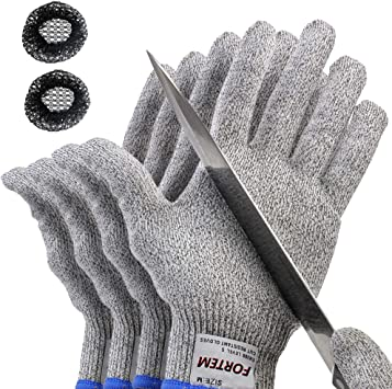 Protective Cut Resistant Gloves Level 5 Certified Safety Meat Cut Wood Carving