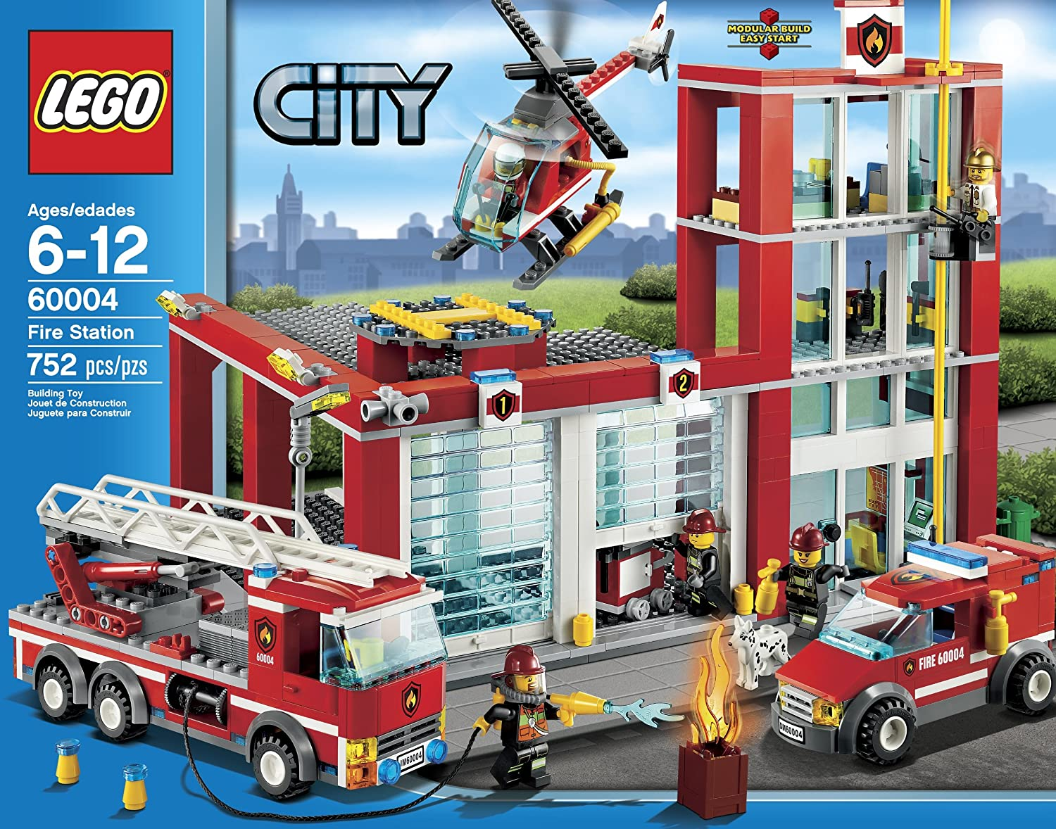 Amazon Lego City Fire Station 60004 Toys Games
