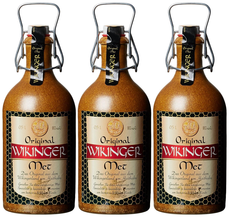 original wikinger met tonkrug 3 x 0 5 l amazon de bier wein