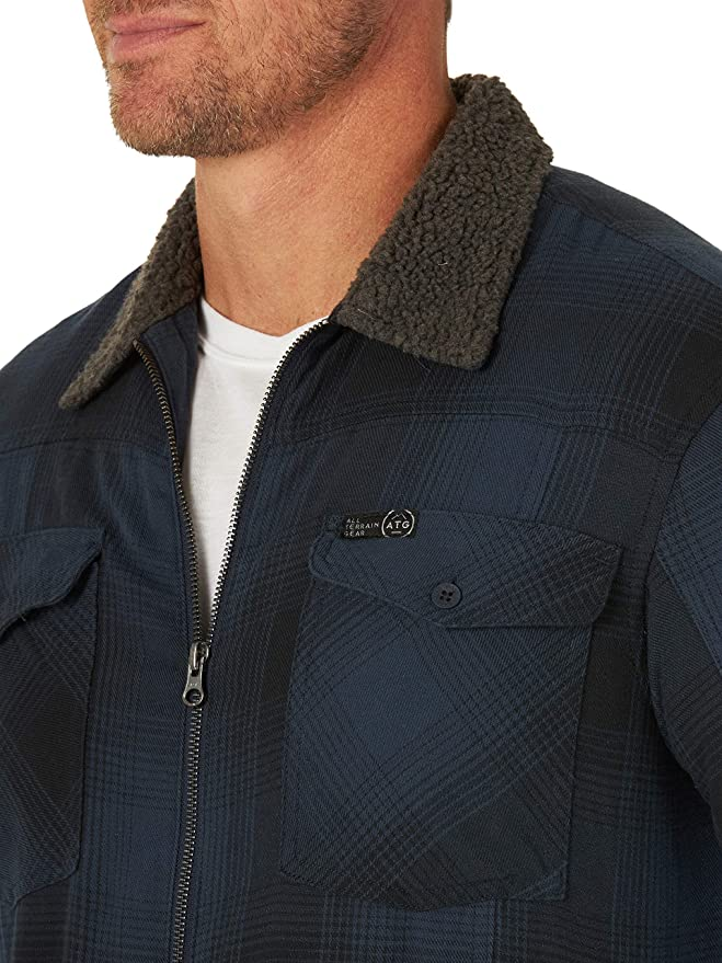 ATG by Wrangler Mens Sherpa Lined Canvas Jacket