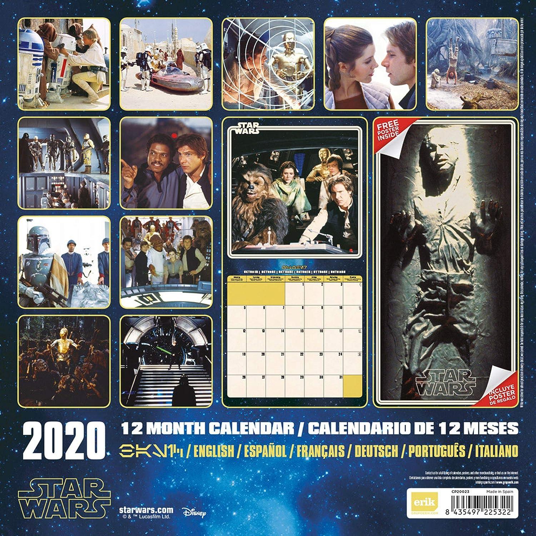Offizieller FIlm Kalender 2020 Star Wars Größe 30x30 cm