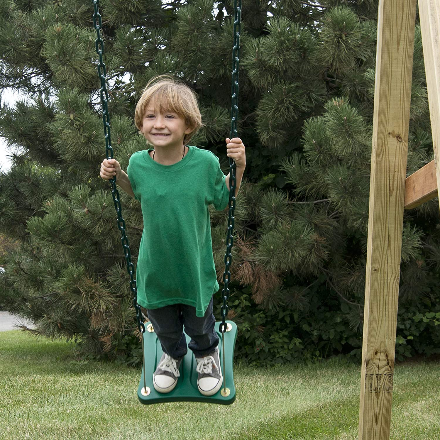 Swing-N-Slide WS 5110 Two Extreme Duty Yellow Swing Seats with a Stand-Up Swing Swing Set Refresher Bundle Yellow