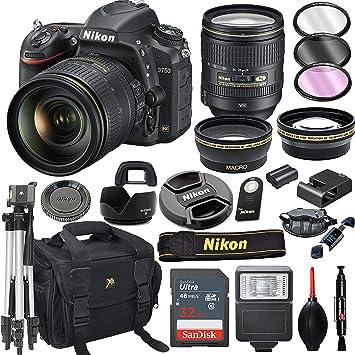 Amazon.com: Cámara réflex digital Nikon D750 con lente VR de ...