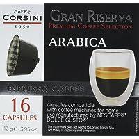 Caffè Corsini Caps Compatibili Dolce Gusto Arabica - 4 confezioni da 16 capsule - Totale 64 Capsule